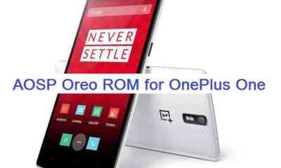 Download and Install Android Oreo on OnePlus One based on AOSP ROM