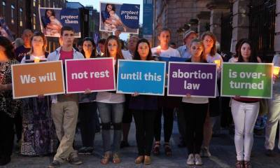 Ireland Thousands of people marched in Ireland against abortion ban