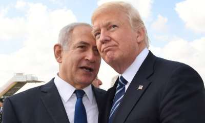 Benjamin Netanyahu greeted warmly by Trump
