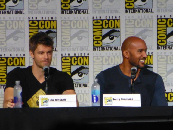 Luke Mitchell and Henry Simmons