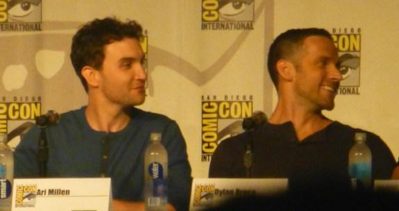 Ari Millen and Dylan Bruce