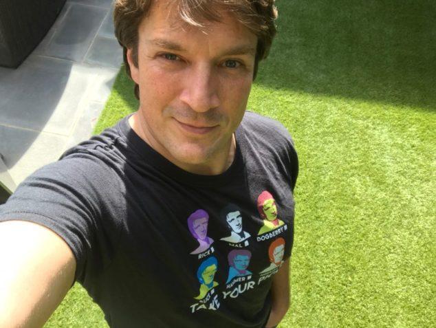 nathan fillion charity shirt
