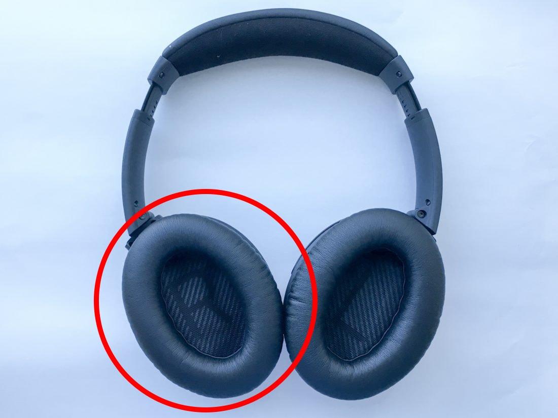 Headphones earpads circled