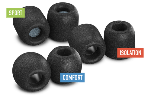 Comply foam ear tips - image from https://www.complyfoam.com