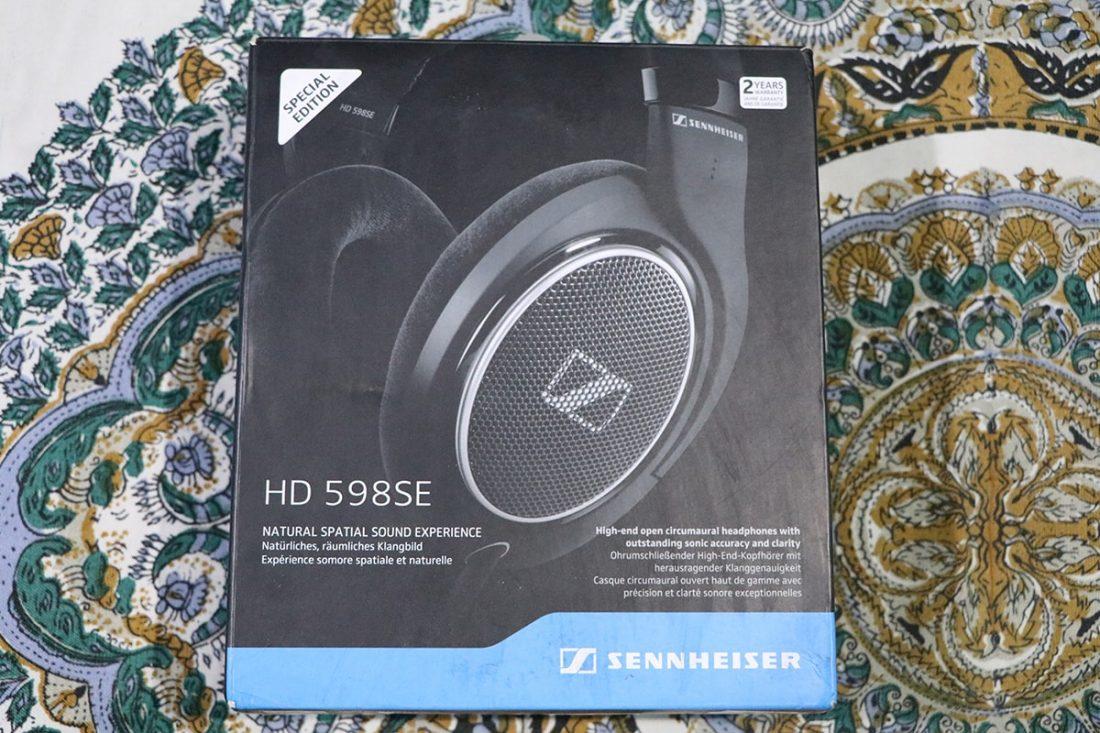 The box of the Sennheiser HD 598SE