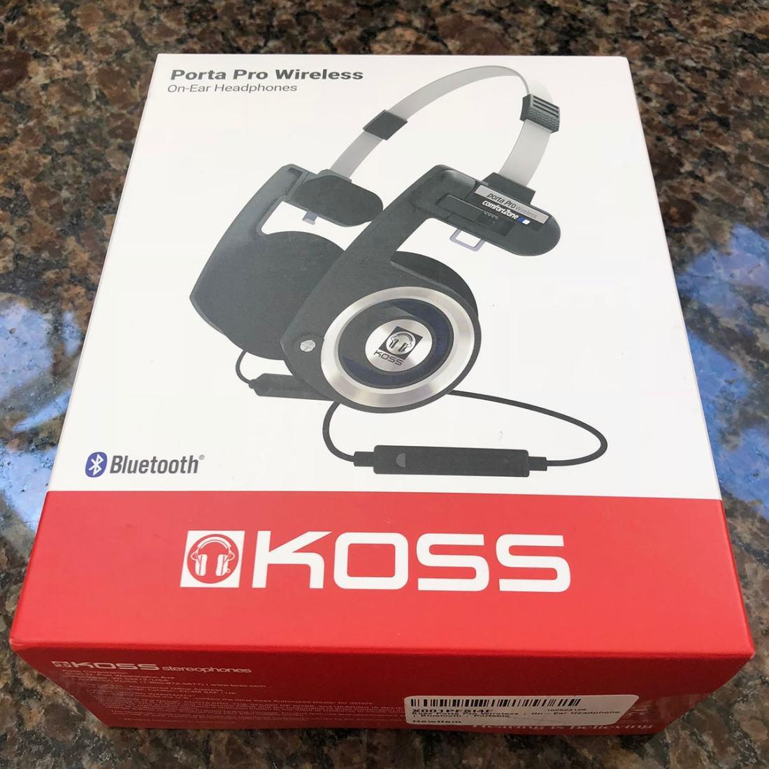 Koss Porta Pro Wireless box