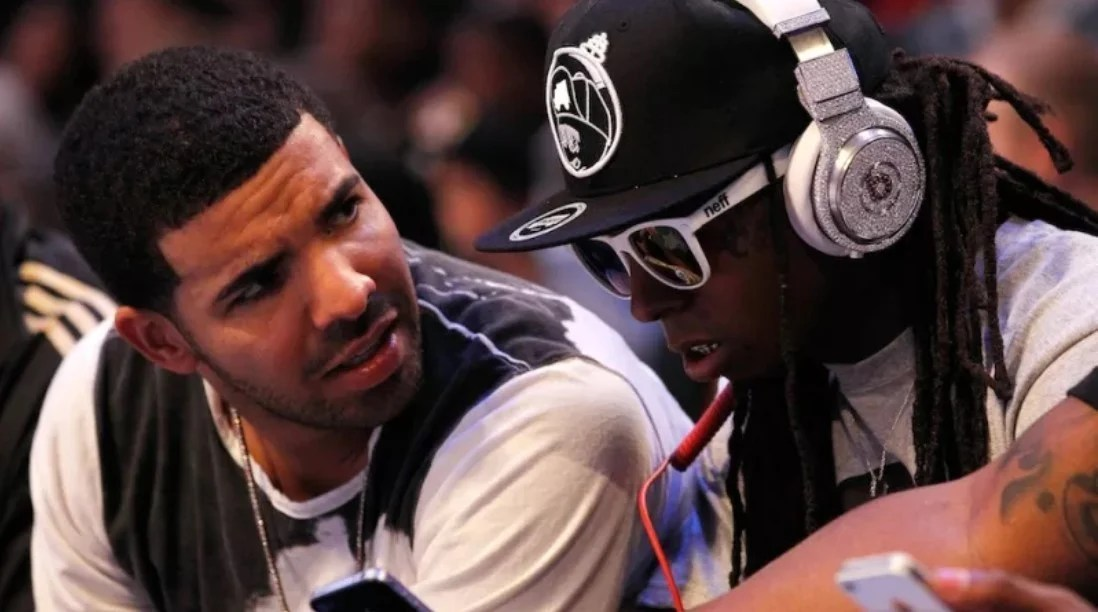 Lil Wayne wearing his custom Beats Pro worth $1 million