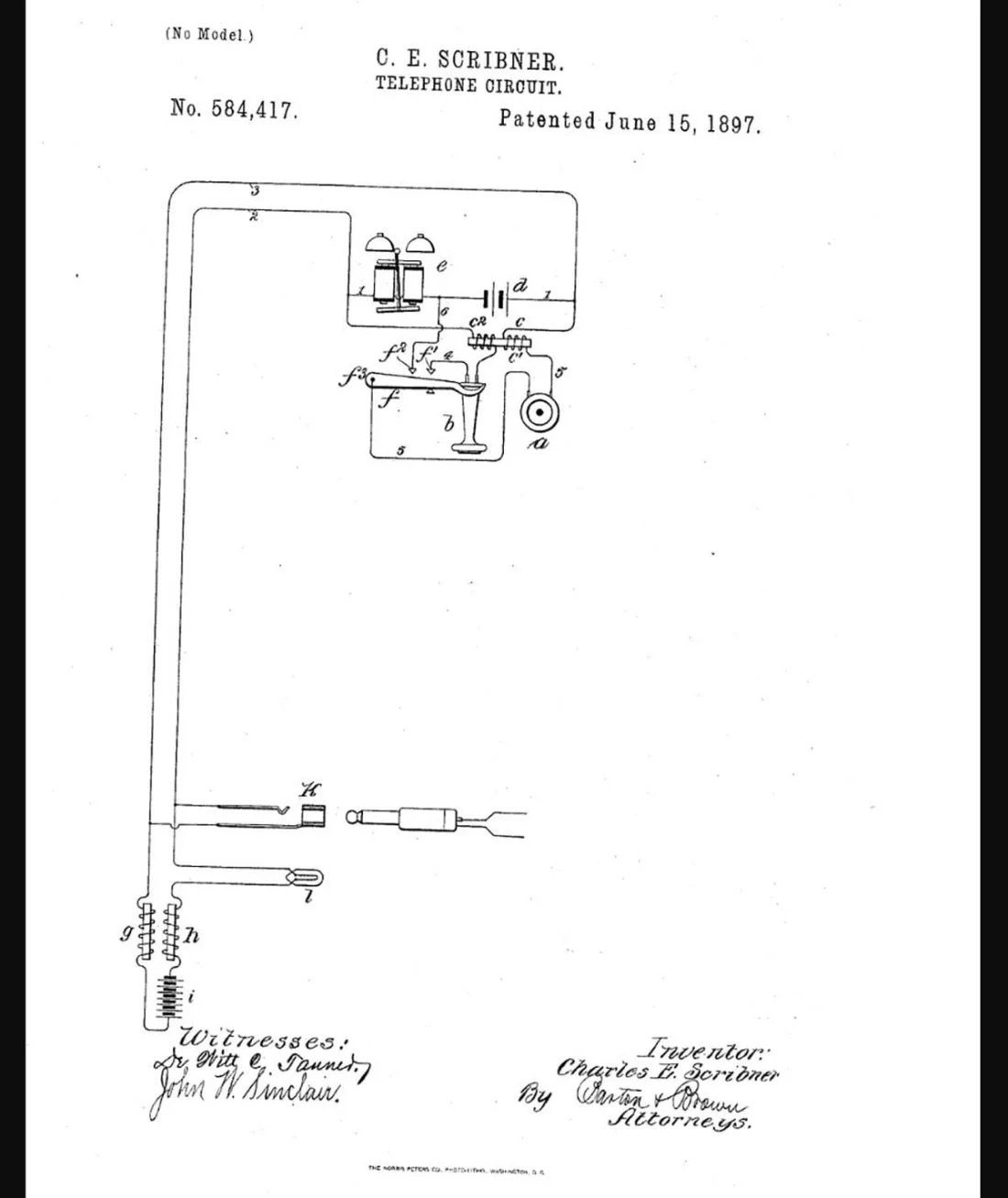 hight resolution of patent of c e scribner