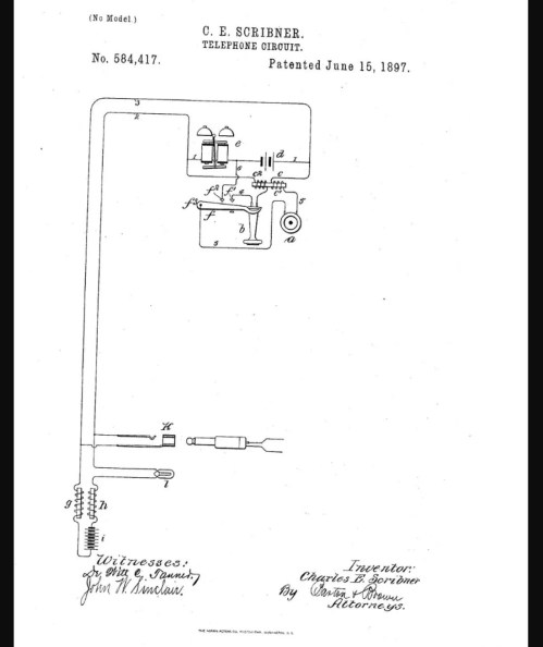small resolution of patent of c e scribner