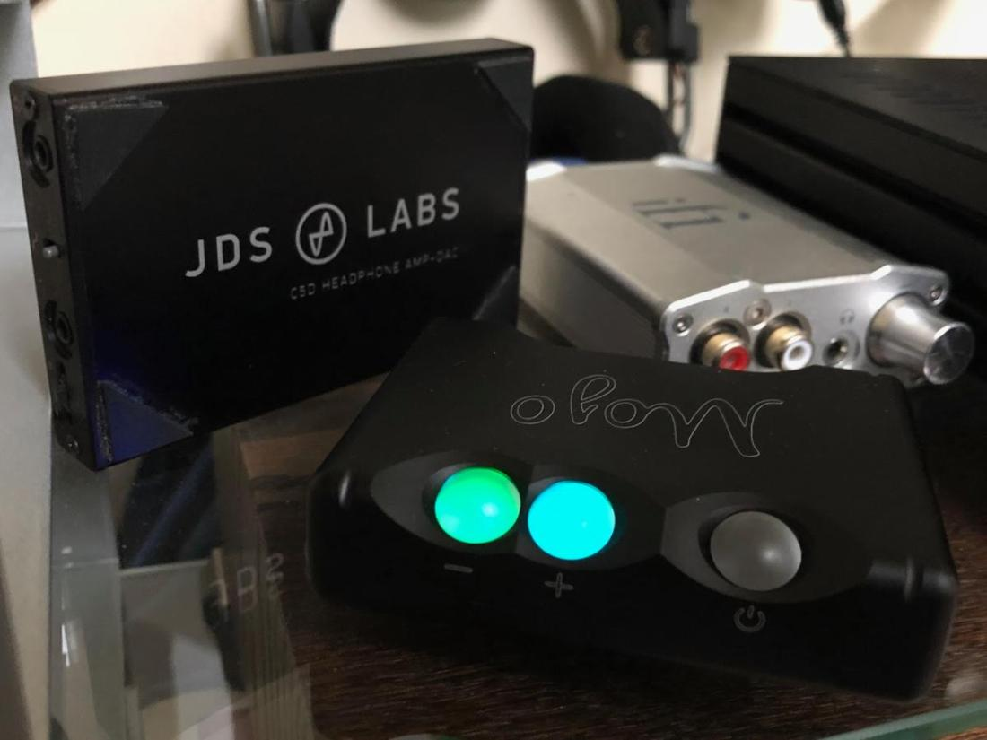 The JDS Labs C5D, iFi Nano iDSD and Chord Mojo.