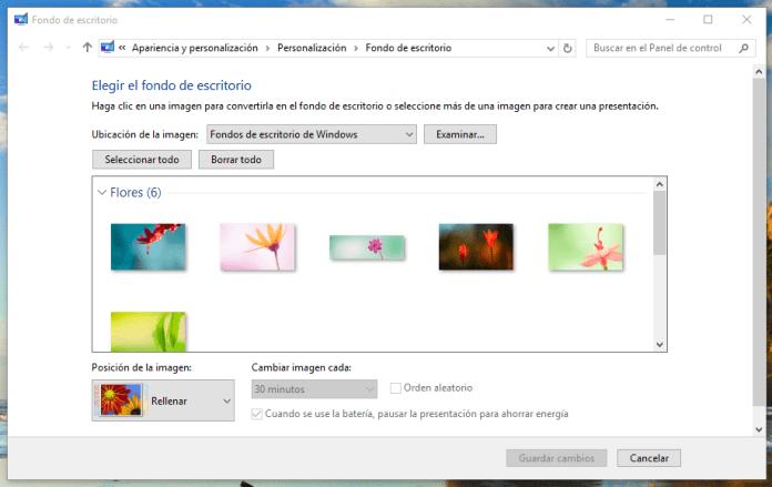 fondos de pantalla diferentes windows 10