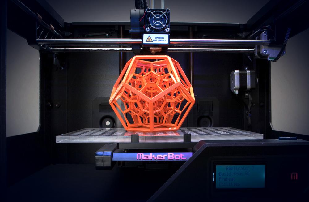 objeto impreso 3D makerbot