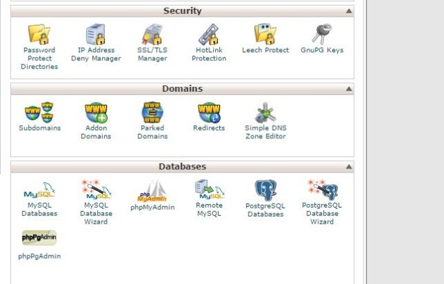 administracion hosting cpanel phpmyadmin
