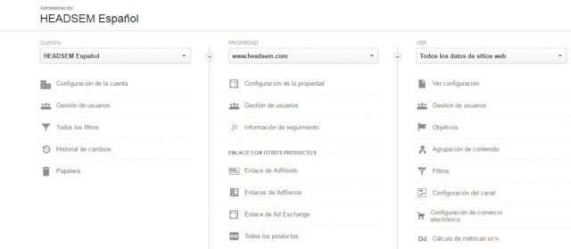 google analytics permisos usuarios