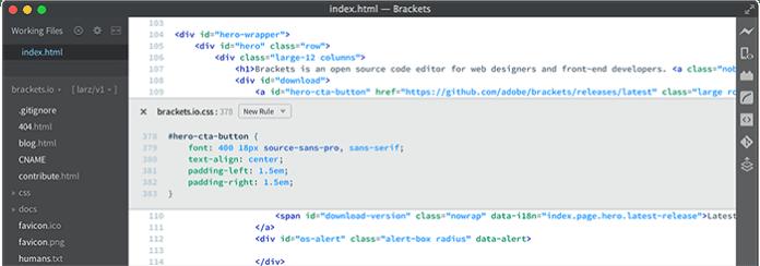 Brackets editor de codigo