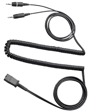Plantronics 28959-01 Quick Disconnect cable to dual 3.5mm