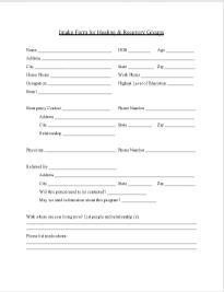 Group Intake Form