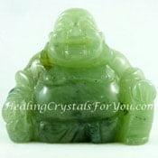 Green Prehnite Buddha