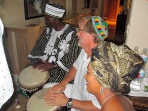 Toby and Malidoma Drumming
