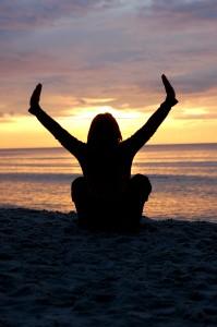 Sunset Yoga on Beach