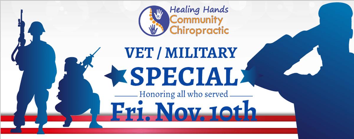 veterans' day chiropractic special