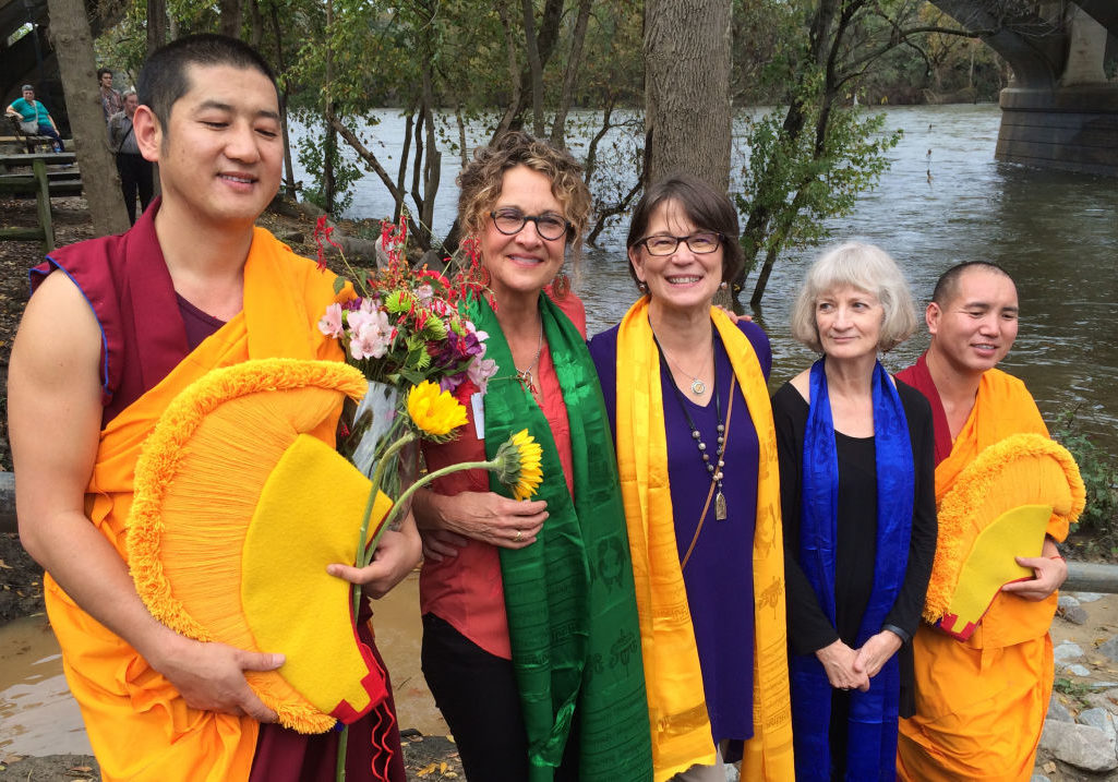 """The rains had stopped for our ceremony. Filled with a light spirit and a renewed heart, we all knew we were really, really going to miss """"our Monks."""""""