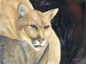 Mountain Lion in Repose by Karen T Hluchan