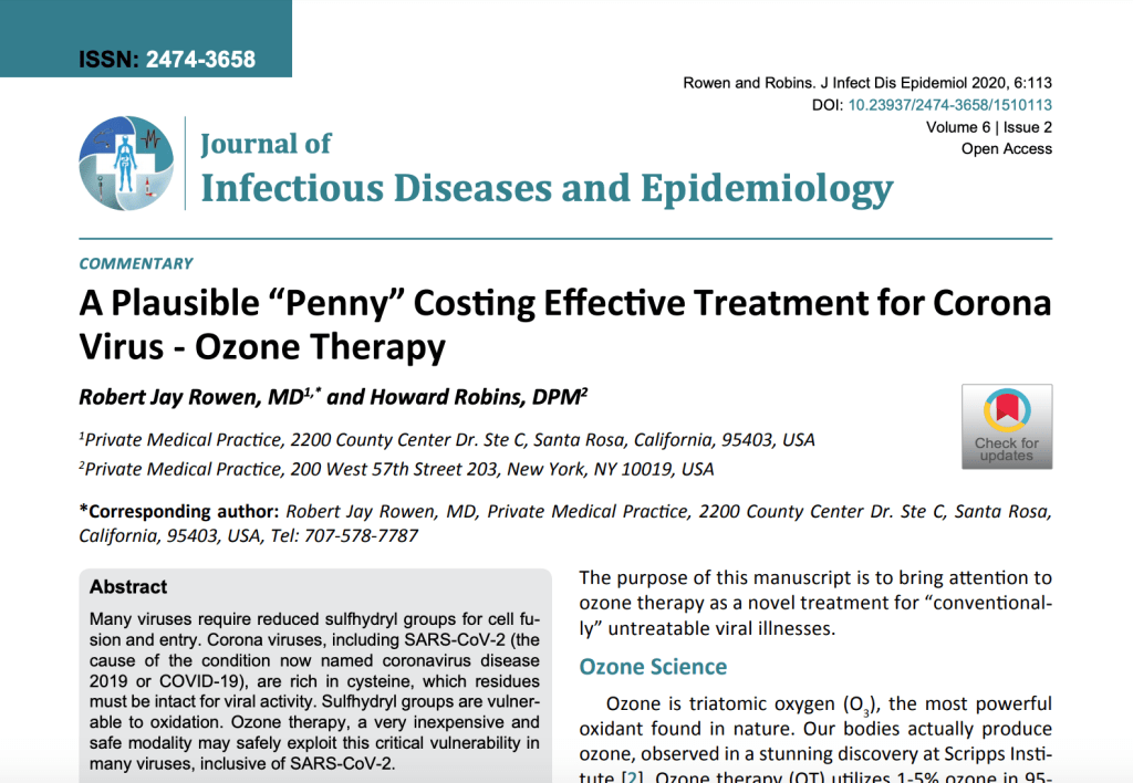 "A Plausible ""Penny"" Costing Effective Treatment for Corona Virus"