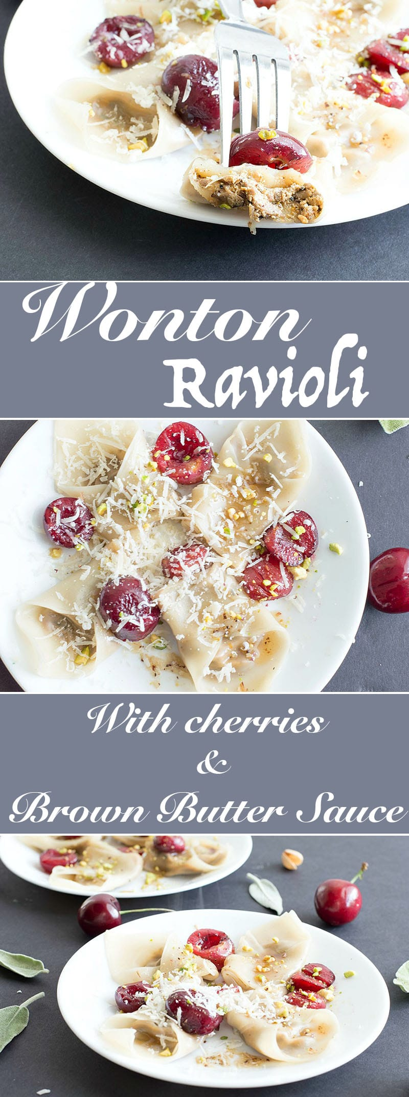 This simple and delicious wonton ravioli is the perfect dinner idea for the whole family to enjoy. Made with fresh mushrooms, bell peppers, shallots and amaretti cookies. Even vegans can find a way to enjoy this recipe