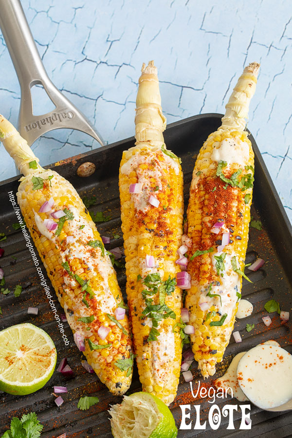 vegan grilled corn on