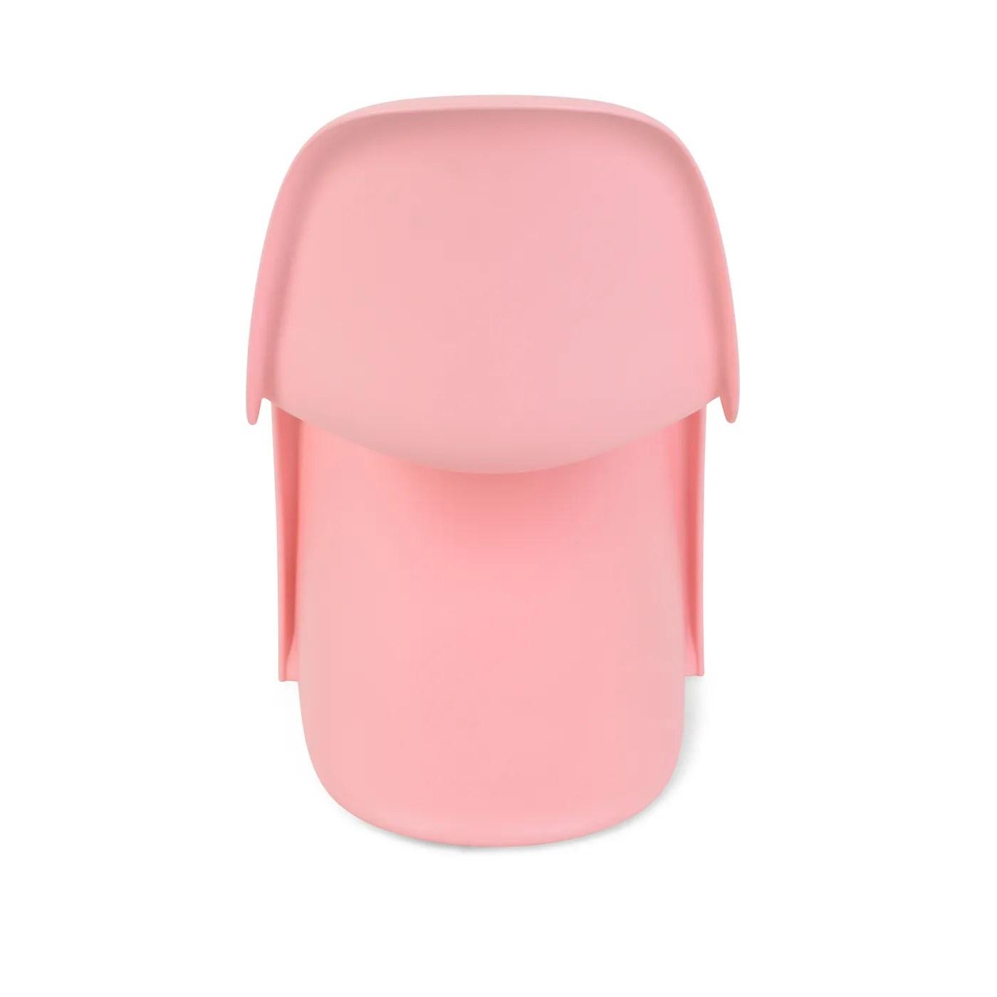 pink panton chair faux fur bean bag chairs vitra junior heals