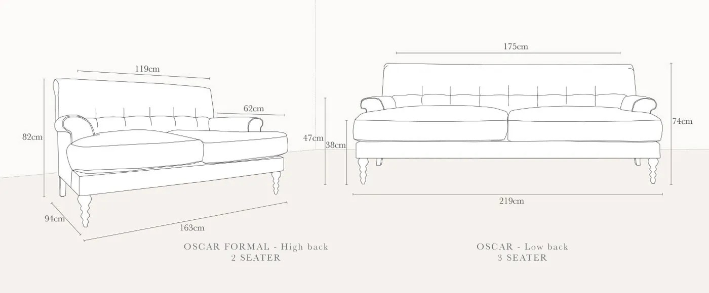 Scp Oscar Formal 2 Seater Sofa