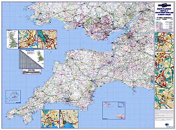 MAPS Regional Road Map 7 South West England and South