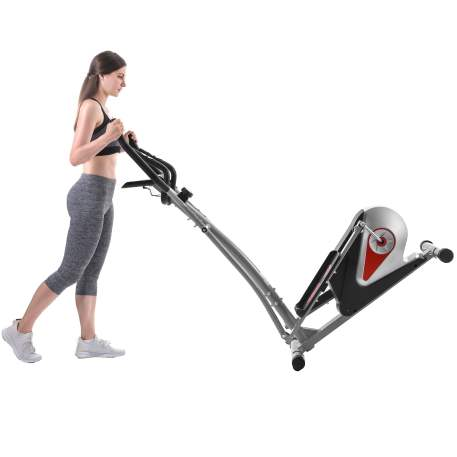 【Not allowed to sell to Walmart】Elliptical Machine Trainer Magnetic Smooth Quiet Driven with LCD Monitor, Home Use