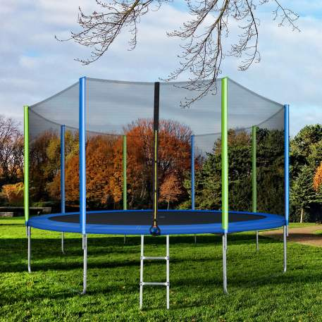 14FT Trampoline for Kids with Safety Enclosure Net