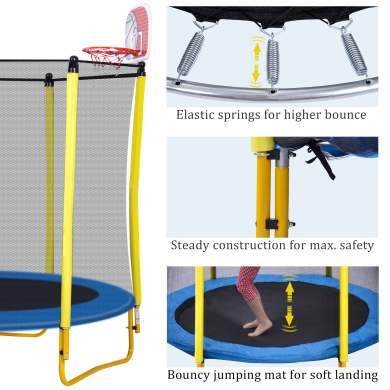 65-inch Outdoor & Indoor Mini Toddler Trampoline