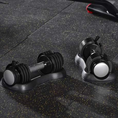 Pair Of 12.5 LBS Adjustable Dumbbell With Handle And Weight Plate