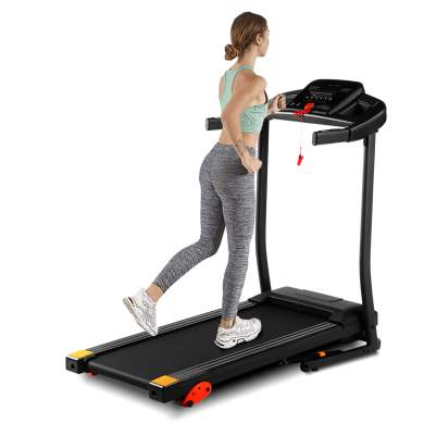 Home Folding Treadmill With LED Panel, MP3/USB Playback, Black