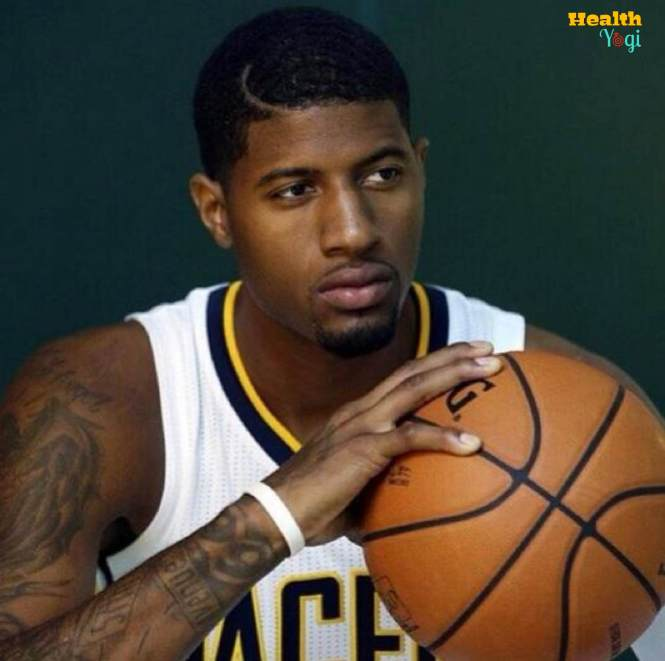 Paul George with basketball HD photo