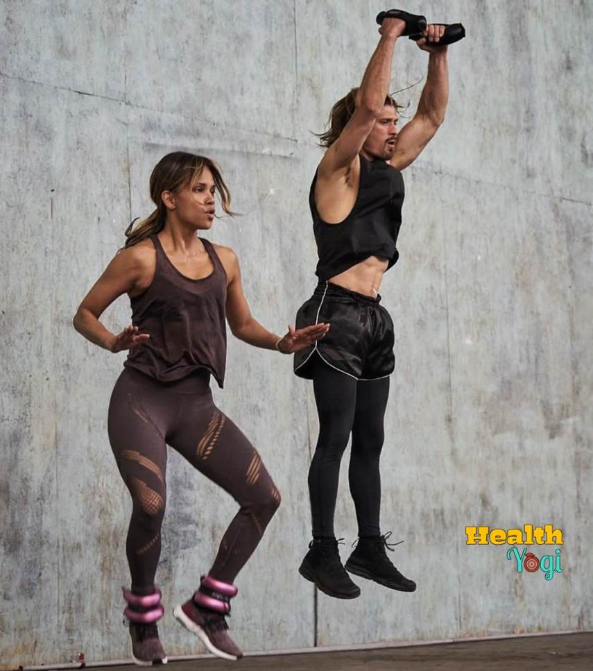 Halle Berry with Trainer Peter lee Thomas