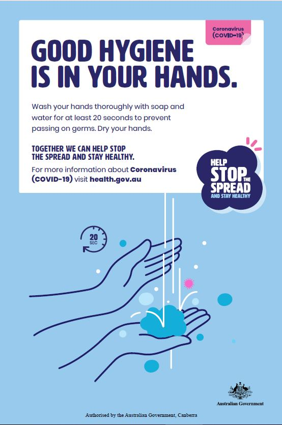 Coronavirus (COVID-19) – Print ads – Good hygiene is in your hands ...