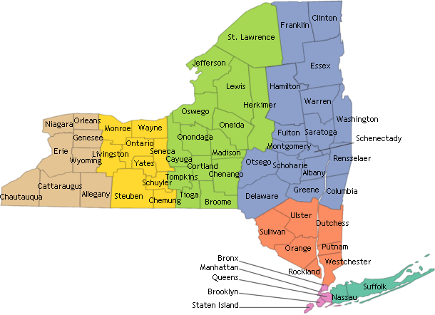 NYSCR Cancer by County