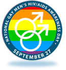 Logo for National Gay Men's HIV/AIDS Awareness Day