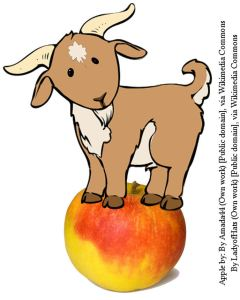 Apple-and goat public domain 2 JPG