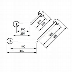Linido Angled Grabrail 45 Degrees :: Sports Supports