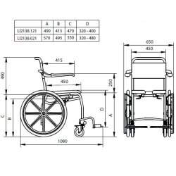 Linido Self Propelled Shower and Toilet Chair :: Sports