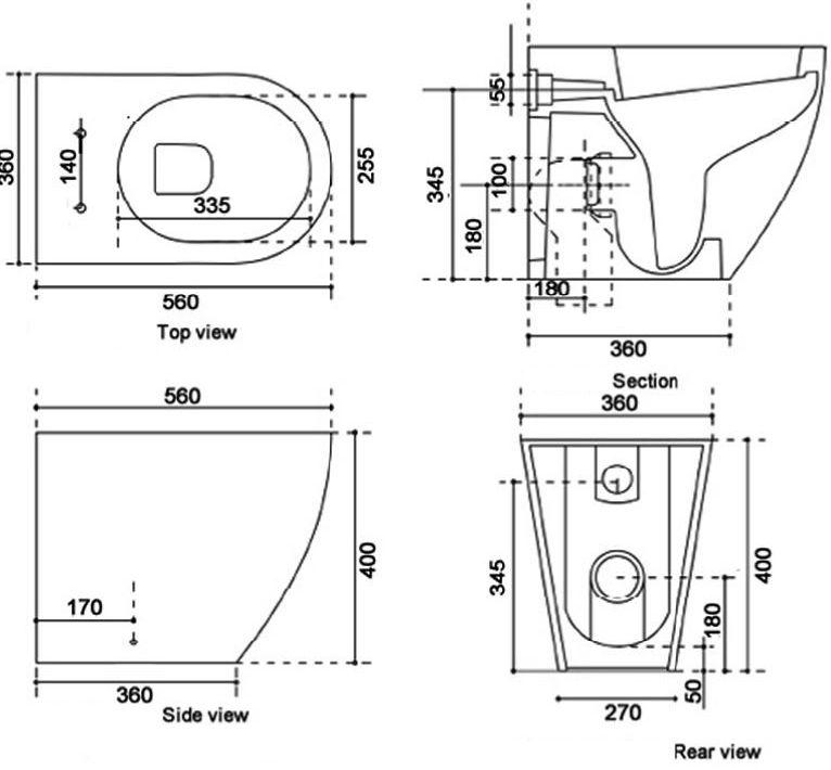 USPA GFS-7235 Floor Standing Shower Toilet :: Sports