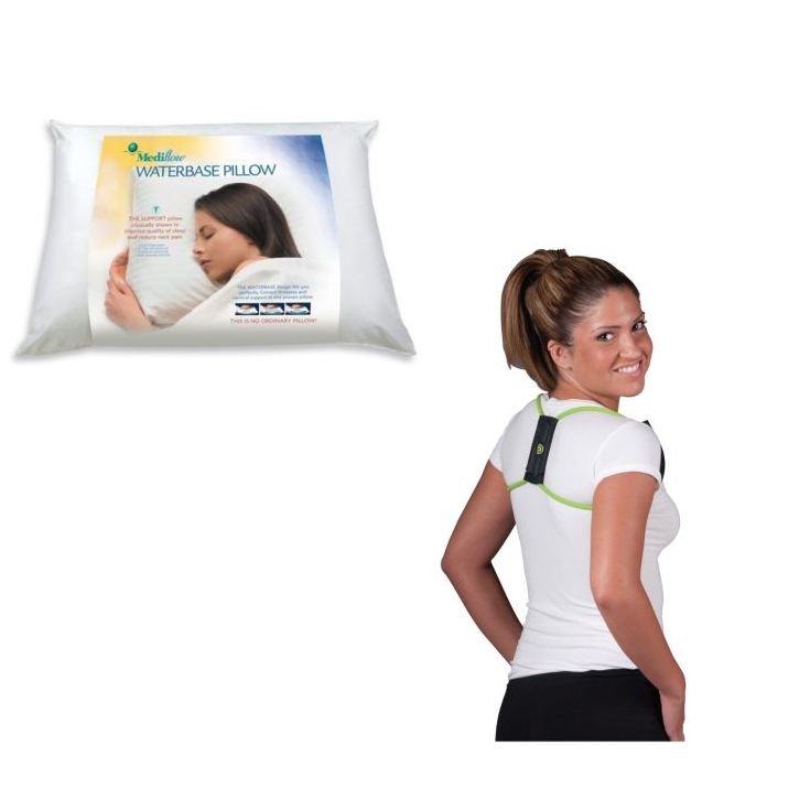 posture brace and orthopaedic neck pillow posture alignment pack
