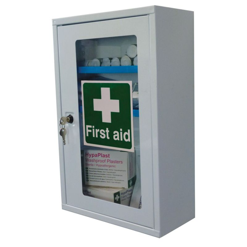 Safety First Aid Single Clear Door Cabinet  Sports