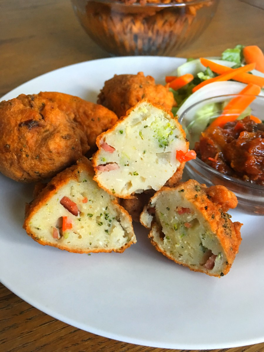 Veggies Bacon Filled Akara